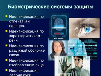 Виды биометрических систем защиты
