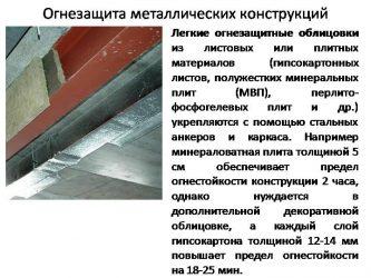СНИП огнезащита металлических конструкций