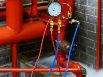 Гидравлические испытания противопожарного водопровода