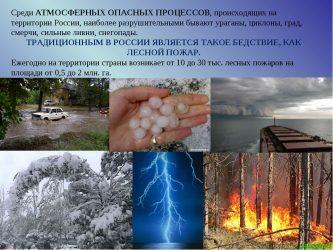 Атмосферные природные опасности и защита от них