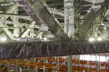 Огнезащита металлических ферм покрытия